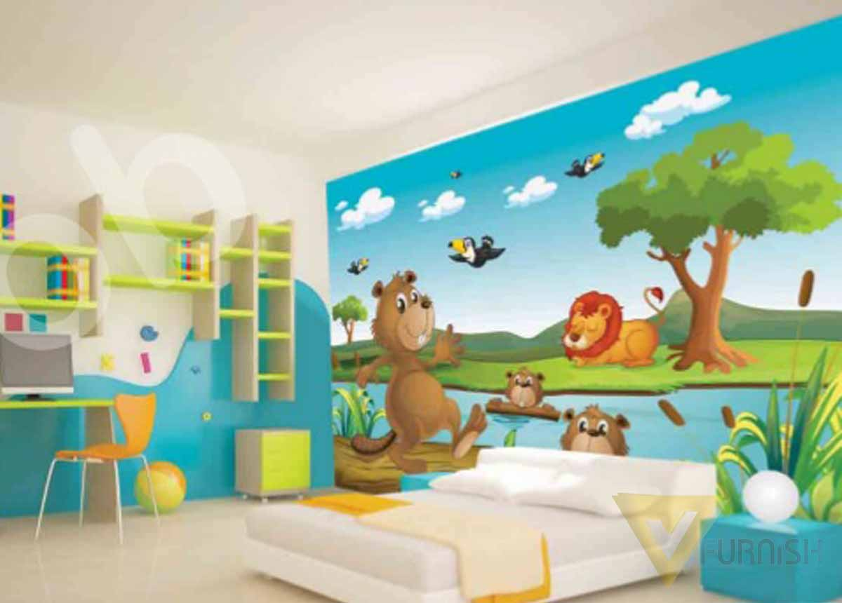 Kids room Wallpapers in Coimbatore|Wallpapers -V Furnish