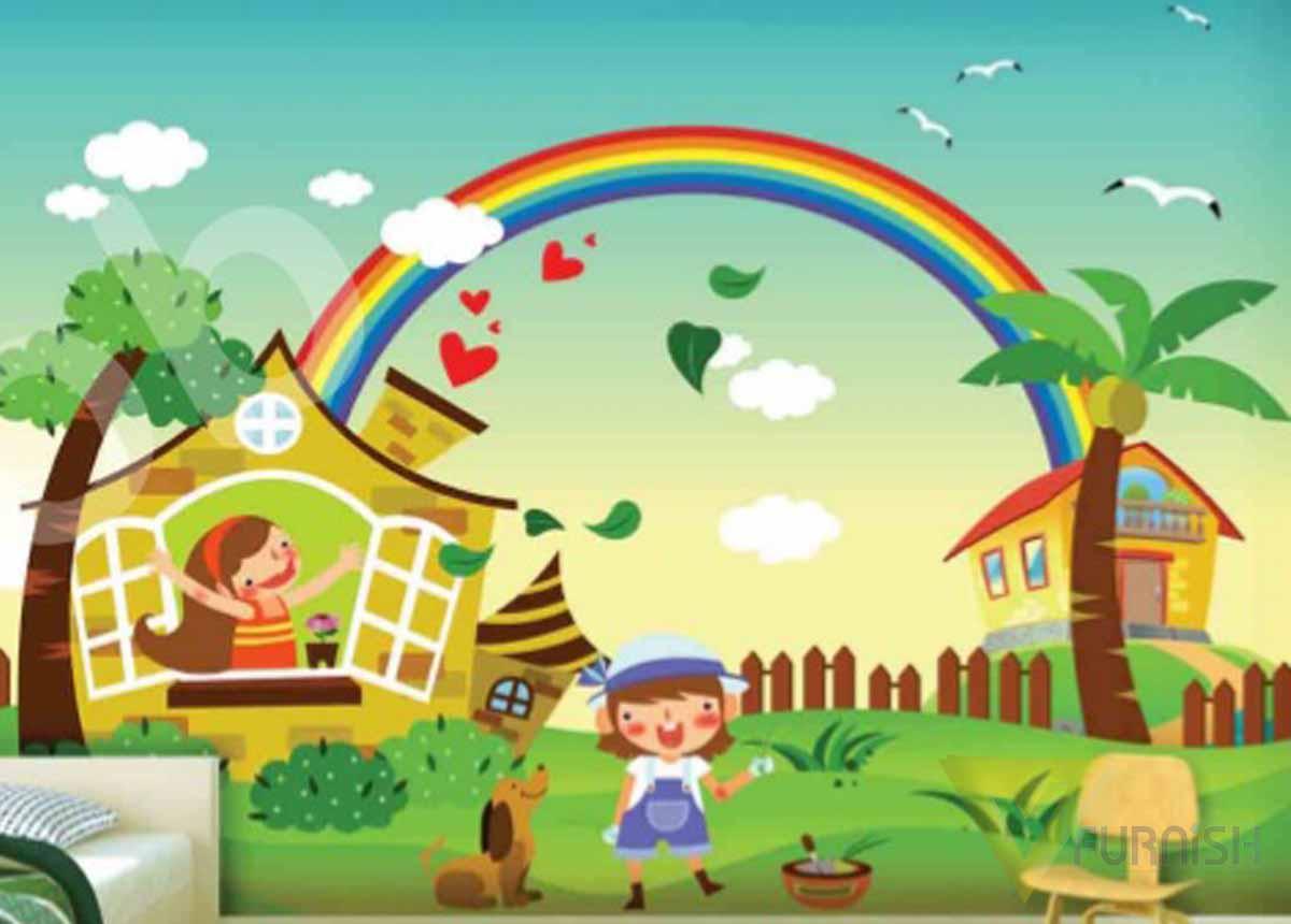 Kids room wallpaper