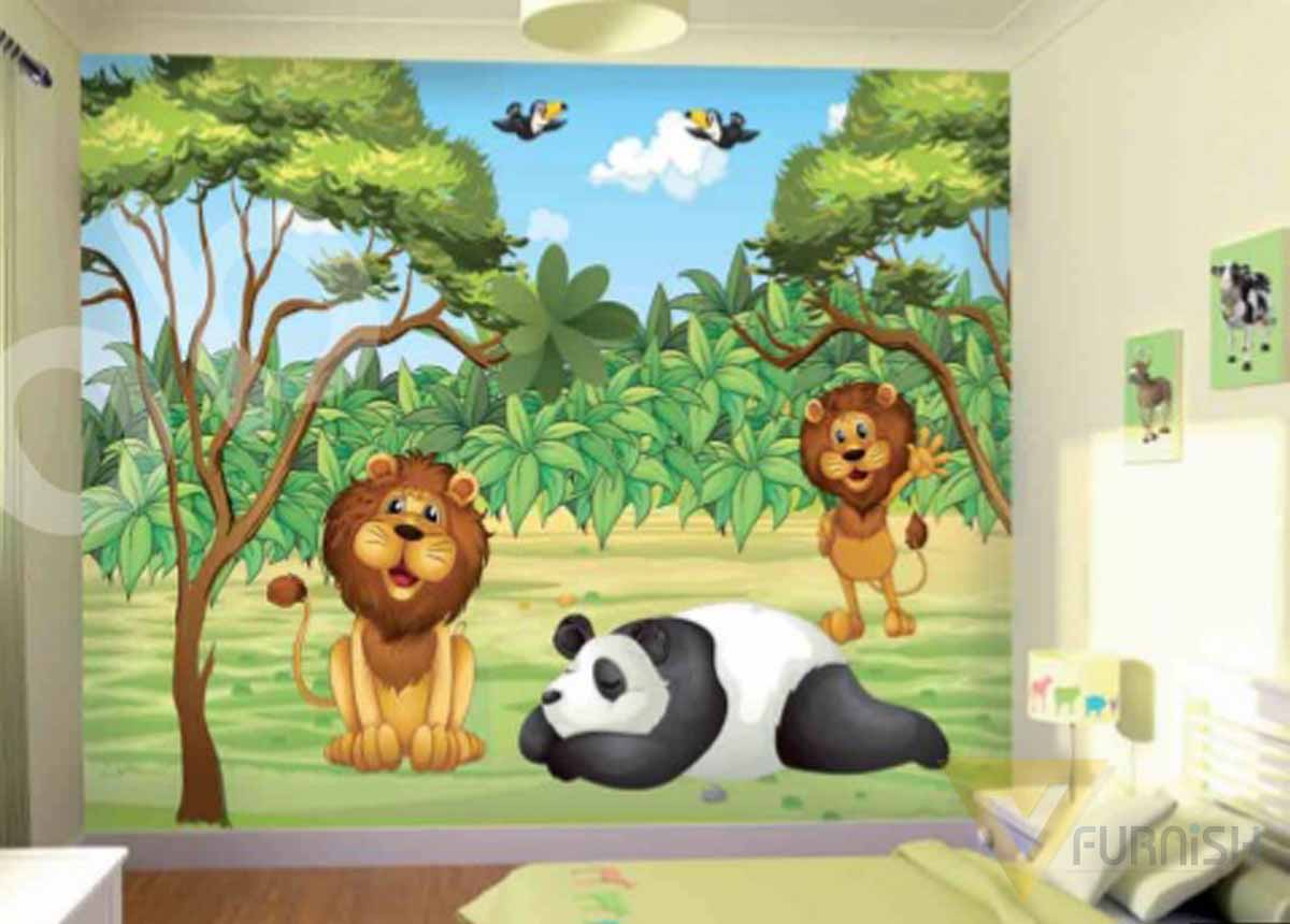Kids room wallpaper
